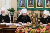 На Священном Синоде представлен доклад о деятельности Церкви во время пандемии