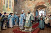 Новоназначенные главы Вологодской и Саратовской митрополии совершили Литургию в Успенском кафедральном соборе Вологды