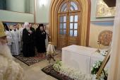 На 40-й день после кончины митрополита Евлогия (Смирнова) на месте его погребения в Успенском соборе Владимира совершена панихида