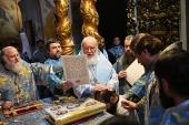Στην εορτή της εικόνας της Παναγίας Ντονσκάγια ο Αγιώτατος Πατριάρχης Κύριλλος τέλεσε τη Θεία Λειτουργία στην Ιερά Μονή Ντονσκόι και προέστη της εις Επίσκοπον Τζακάρτας χειροτονία του Αρχιμανδρίτη Πιτιρίμ Ντοντένκο