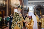 His Holiness Patriarch Kirill elevates Bishop Veniamin, newly elected Patriarchal Exarch of All Belarus, to the rank of metropolitan