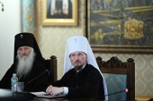 His Holiness Patriarch Kirill meets with hierarchs of Belarusian Exarchate