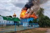 Сгорел один из старейших храмов Горловской епархии