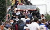 Ростовская епархия передала продуктовую помощь в палаточный лагерь граждан Узбекистана в Ростове-на-Дону