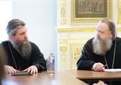 Состоялась встреча митрополита Ростовского Меркурия и епископа Бронницкого Евгения с сотрудниками Синодального отдела религиозного образования и катехизации