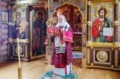 У день Усікновення глави Іоанна Предтечі Святіший Патріарх Кирил звершив Літургію в Олександро-Невському скиту
