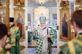 У день пам'яті благовірних князів Даниїла Московського і Олександра Невського Святіший Патріарх Кирил звершив Літургію в Даниловому ставропігійному монастирі