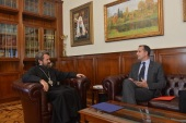 Metropolitan Hilarion of Volokolamsk meets with Latvia's Ambassador to Russia