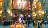 Совершен молебен по случаю второй годовщины закладки главного храма Вооруженных сил РФ