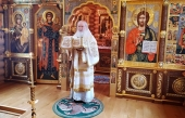 В день воспоминания чуда Архистратига Михаила в Хонех Святейший Патриарх Кирилл совершил Литургию в Александро-Невском скиту