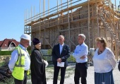 Mr. Miklós Soltész, Hungary's Secretary of State for Churches, Minorities and Civil Affairs, visits construction site of Orthodox church in Hévíz