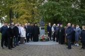 В Иосифо-Волоцком ставропигиальном монастыре состоялось открытие мемориального бюста митрополита Питирима (Нечаева)
