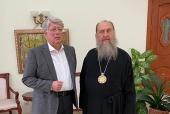 Состоялась встреча главы Казахстанского митрополичьего округа с послом России в Казахстане