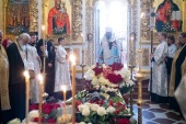 Предстоятель Украинской православной Церкви совершил отпевание духовника Киево-Печерской лавры архимандрита Аврамия (Куявы)