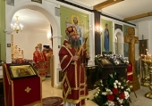 Председатель Синодального отдела религиозного образования и катехизации совершил Литургию в домовом храме телецентра «Останкино»