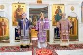 Патриарший экзарх всея Беларуси возглавил престольный праздник Крестовоздвиженского собора Полоцкого Спасо-Евфросиниевского монастыря