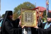 Список иконы Божией Матери «Знамение» из Коренной пустыни принесен в Знаменский собор г. Курска