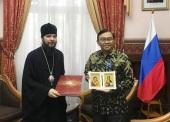Епископ Джакартский Питирим встретился с главой индонезийской дипломатической миссии в Москве