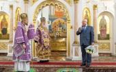 Патриарший экзарх всея Беларуси совершил Литургию в Успенском кафедральном соборе Витебска