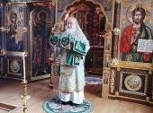 В день преставления преподобного Сергия Радонежского Предстоятель Русской Церкви совершил Литургию в Александро-Невском скиту