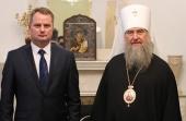 Состоялась встреча митрополита Астанайского Александра с новоназначенным послом Белоруссии в Казахстане