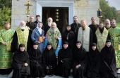 Блаженнейший митрополит Киевский Онуфрий освятил храм в честь преподобного Онуфрия Великого в Ольшанском женском монастыре Киевской области