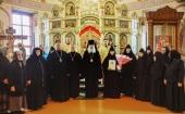 Председатель Синодального отдела по монастырям и монашеству совершил Литургию в Борисоглебском Аносином ставропигиальном монастыре