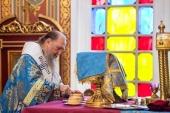 В праздник Покрова Пресвятой Богородицы митрополит Астанайский Александр совершил Литургию в Вознесенском соборе Алма-Аты