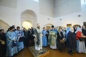 Митрополит Псковский Тихон совершил Литургию древнерусским чином в Никольском храме в Пскове