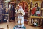 У Неділю 19-ту після П'ятидесятниці Святіший Патріарх Кирил звершив Літургію в Олександро-Невському скиті