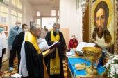 Патриарший экзарх всея Беларуси посетил хоспис при 11-й городской клинической больнице Минска