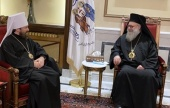 His Beatitude Patriarch John meets with the chairman of the Moscow Patriarchate Department for External Church Relations