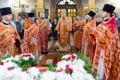 В день памяти священномученика Порфирия Рубановича Патриарший экзарх всея Беларуси совершил Литургию в Преображенском соборе Заславле