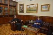 Состоялась встреча митрополита Волоколамского Илариона с послом по особым поручениям МИД России