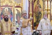 Состоялось великое освящение обновленного Вознесенского кафедрального собора Алма-Аты