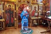 В праздник Казанской иконы Божией Матери Святейший Патриарх Кирилл совершил Литургию в Александро-Невском скиту