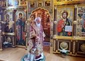 В Неделю 22-ю по Пятидесятнице Святейший Патриарх Кирилл совершил Литургию в Александро-Невском скиту