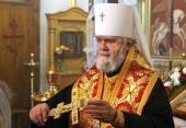Патриаршее поздравление митрополиту Феодосийскому Платону с 80-летием со дня рождения