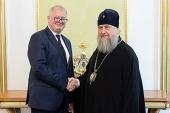 В Нур-Султане состоялась встреча митрополита Астанайского и Казахстанского Александра с послом Германии