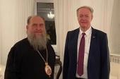Состоялась встреча митрополита Астанайского и Казахстанского Александра с главой Представительства Европейского Союза в Казахстане