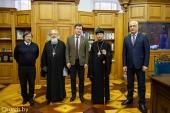 Патриарший экзарх всея Беларуси встретился с ректором Белорусского государственного университета