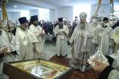 Глава Екатеринбургской митрополии совершил освящение воинского храма во имя Архангела Гавриила в 32-м военном городке