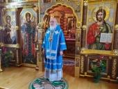 В Неделю 24-ю по Пятидесятнице Святейший Патриарх Кирилл совершил Литургию в Александро-Невском скиту