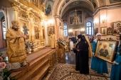 В день рождения блаженной Матроны Московской в Покровском ставропигиальном монастыре состоялось праздничное богослужение