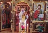 В Неделю 25-ю по Пятидесятнице Святейший Патриарх Кирилл совершил Литургию в Александро-Невском скиту