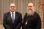 В Нур-Султане прошла встреча митрополита Астанайского Александра с послом Республики Сербия Владаном Матичем