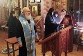 В канун праздника Введения во храм Пресвятой Богородицы Святейший Патриарх Кирилл совершил всенощное бдение в Александро-Невском скиту
