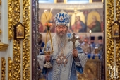 В праздник Введения во храм Пресвятой Богородицы Блаженнейший митрополит Онуфрий возглавил Литургию в Киево-Печерской лавре