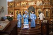 В праздник Введения во храм Пресвятой Богородицы митрополит Минский Вениамин совершил Литургию в Ляденском монастыре