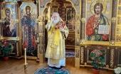 В день памяти благоверного князя Александра Невского Святейший Патриарх Кирилл совершил Литургию в Александро-Невском скиту